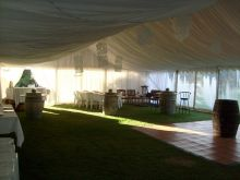 Inside a Marquee for a wedding