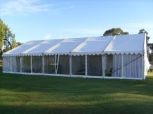 Marquees can be setup for special occasions